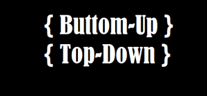 Buttom-up und top-down Lernmethode