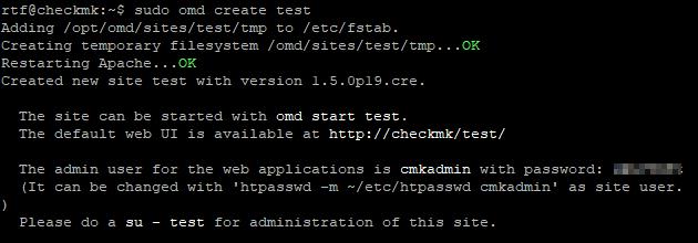 check_mk omd create test