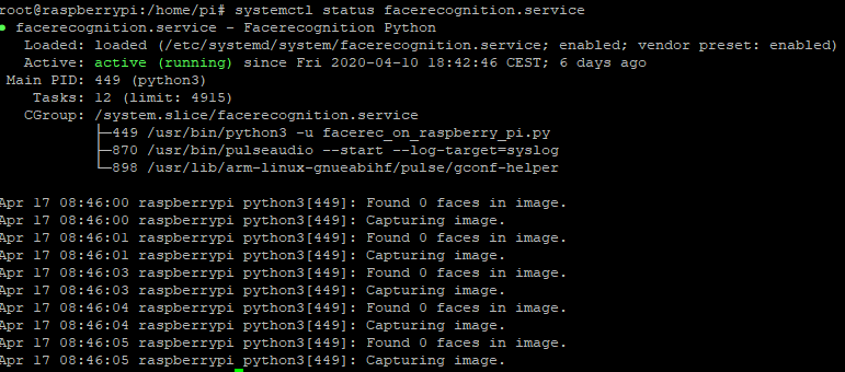 systemd Facerecognition.service